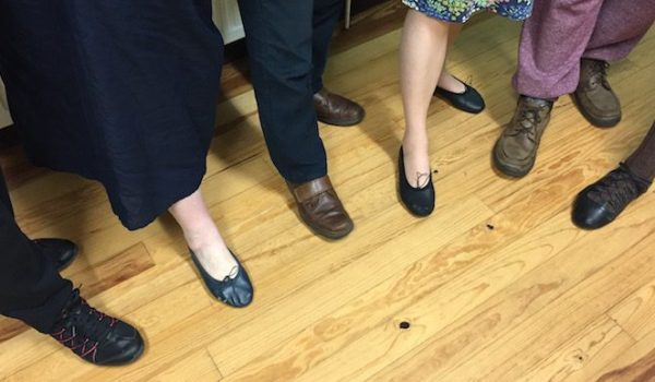 Berkhamsted Strathspey and Reel Club - selection of shoes used by beginners